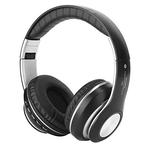 Regali di Maggio Cuffie Facili da sfruttare Buone Prestazioni Comode da Indossare Cuffie Wireless dall aspetto Unico per Tablet Ascolta Musica Telefono Cellulare Domestico(Black)