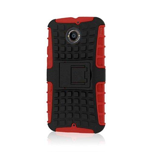 MPERO Impact SR Series Kickstand Case for Motorola Moto X XT1096 (2nd Gen 2014) - Red