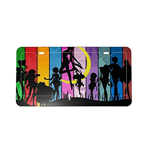 Anime Girl Sailor Moon Protection License Plate Car Frame Fashion Personality, Used for Women and Men Car Decoration DIY Custom Patterns