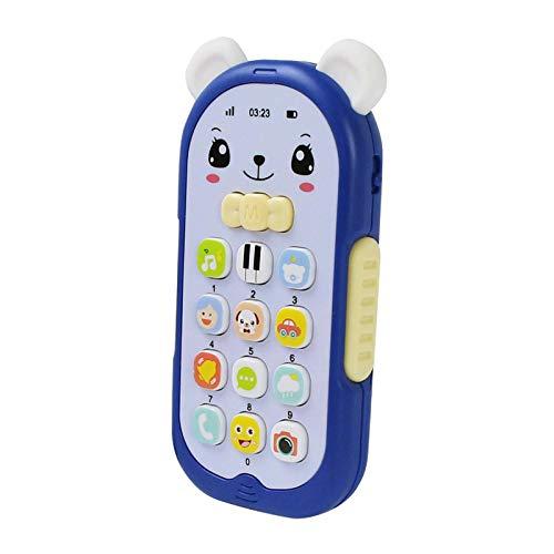 Hellery Máquina de Sonido de La Música del Teléfono del Juguete del Teléfono del Bebé para La Educación Temprana Infantil de Los Niños - Azul
