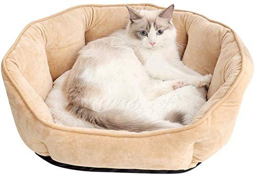 TETHYSUN Cama para mascotas suave y caliente colchón para mascotas, bolsa redonda de aislamiento térmico para perros y gatos, almohadilla autocalentable para gato manta Hine lavable