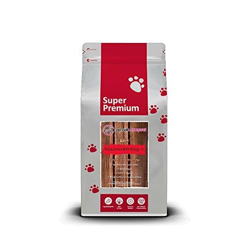 Super Premium - Alimento para perro con pico, diseño de perro y patata, para adultos