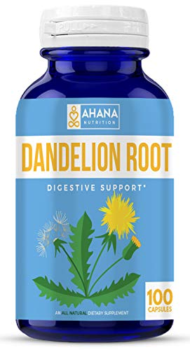 Ahana Nutrition Dandelion Root Capsules to Help with Liver Support, Liver Detox, and a Whole Body Cleanse* (450mg - 100 Capsules)