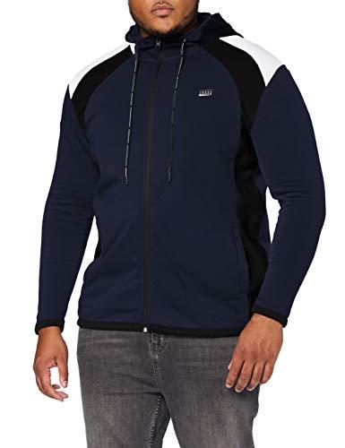 Jack & Jones JCONOLAN Sweat Zip Hood PS Sweatshirt à Capuche, Blazer Bleu Marine, XXL/4XL Homme