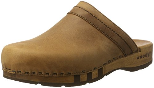 Woody Herren Harry Clogs, Braun (Tabacco), 43 EU