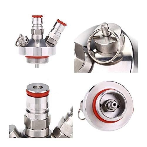 QWXZ Ventil 1 PC-Edelstahl-Bier-Anschluss Bier Spear Schnell Montage Anschluss for ZuhauseBrew Kennzeichnung Keg Dispenser Adapter
