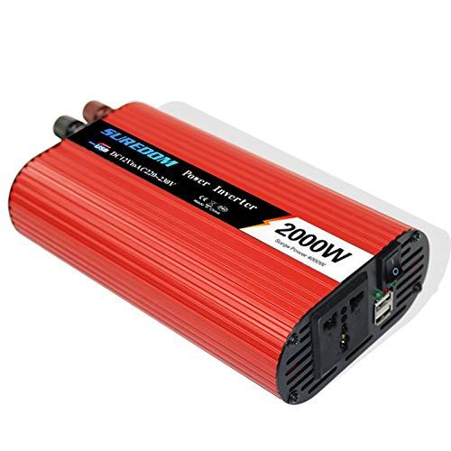 2000w(spitze 4000w) Reiner Sinus Spannungswandler Wechselrichter 12v/24v/48v Auf 220v Konverter Pure Sine Power Inverter Mit Usb-ladeanschluss Und Direktanschluss,12V