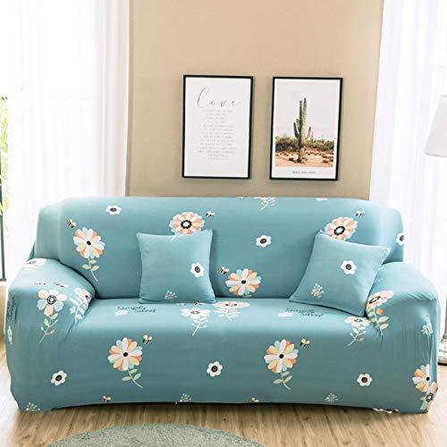 XM&LZ Gedruckt Stretch Elastisch Sofa Überwürfe,Couch Slipcover Zu Sofas Sessel Sofahusse,Universal Elastische Sofaüberwurf Mit Schönem Muster-B 2 Seater 145-185cm