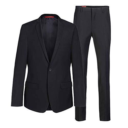 ® Anzug Herren 2-Teilig (Slim Fit) 3 Farben (Perfekte Passform + Geprüfte Qualität + EU Größen) (schwarz, 88)