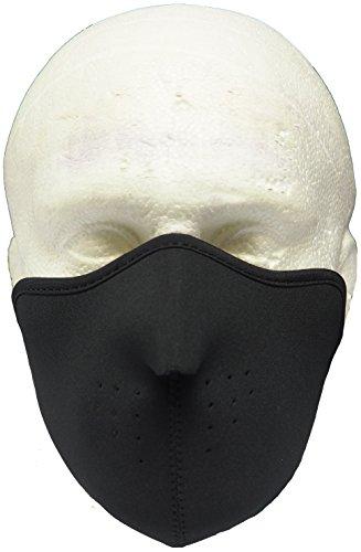 Zwart Neopreen Half Gezicht Masker voor Schaatsen/Fietsen/Motorfietsen etc - Slijpschedel Ontwerp