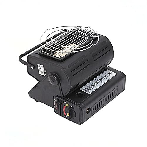 Calentador de gas portátil - Estufa de calefacción portátil al aire libre de 1.3 Kw, calentador de tienda de campaña licuado multifuncional, calentador de gas butano, utilizado -Black