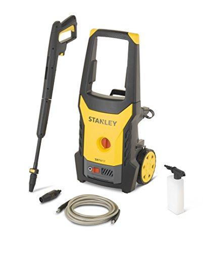Stanley 14141 Hidrolimpiadora, motor universal con mini patio y cepillo fijo 1700 W, Amarillo y negro