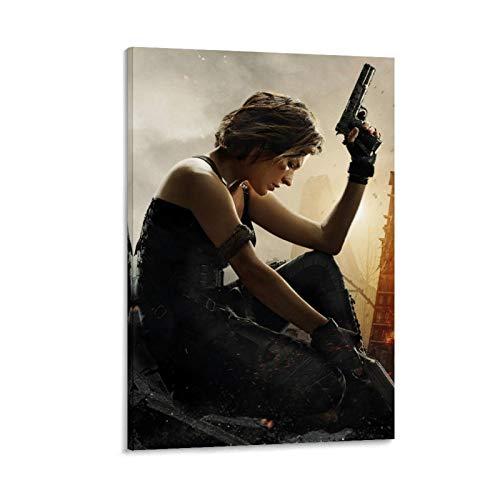 Poster e stampe su tela, motivo: DRAGON VINES Resident Evil Bloody Horror su tela, decorazione per ufficio, 60 x 90 cm