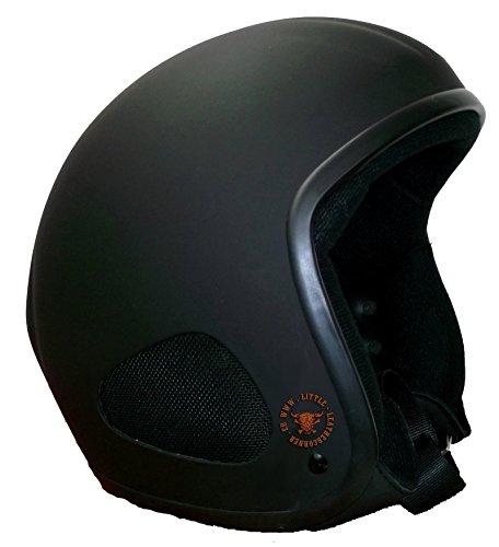 CLASSIC TITAN -Jet Helm schwarzmatt (XXXL-62/63cm Stirnumfang) Biker Helm, Chopper, Ski, Harley, Jethelm
