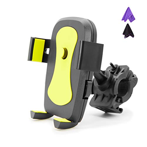 SHENZHENDUDU Universele telefoonhouder voor fiets, fiets, motorfiets, 360 graden rotatie, Alle stuurpen - iPhone, Samsung, Google, Sony, Huawei, LG, etc - 4-kleuren
