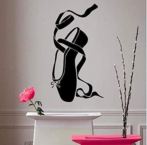 Calcomanías De Pared Bailarina Vinilo Pegatina Chica Ballet Zapato Baile Pointes Arte...