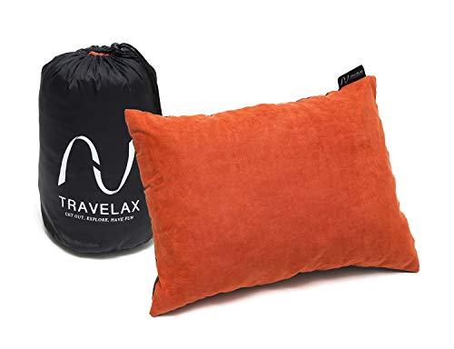 Travelax Kopfkissen für Unterwegs, Bequemes, Leichtes, Waschbares Reisekissen - kein Aufblasen