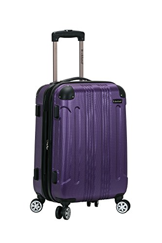 Rockland London Hardside Spinner Wheel Luggage, Purple