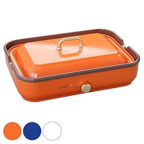 アイリスオーヤマ ホットプレート たこ焼き 平面プレート 2WAY 温度調整 オレンジ PHP-1002TC-D