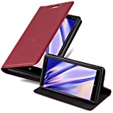 Cadorabo Hülle für Nokia Lumia 830 in Apfel ROT - Handyhülle mit Magnetverschluss, Standfunktion & Kartenfach - Hülle Cover Schutzhülle Etui Tasche Book Klapp Style