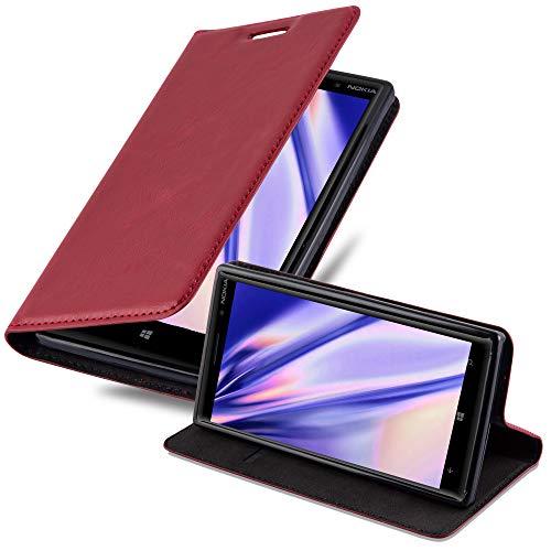 Cadorabo Custodia Libro per Nokia Lumia 830 in Rosso Mela - con Vani di Carte, Funzione Stand e Chiusura Magnetica - Portafoglio Cover Case Wallet Book Etui Protezione