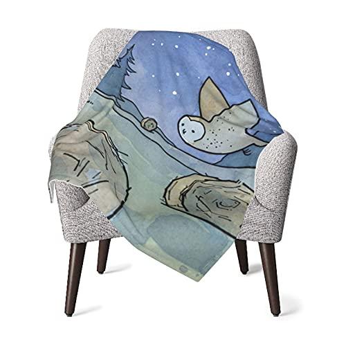 VVSADEB Manta de bebé Owl in The Night Sky, manta de bebé, suave y cálida para recién nacido, unisex, talla única (76 x 100 cm)