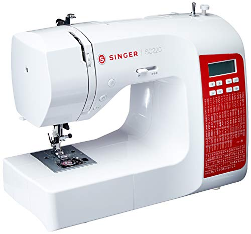 Máquina de Costura Singer, SC220-RD, Eletrônica, Bivolt