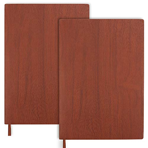 Belle Vous Cuaderno A5 Rayas 2 Piezas - Cuaderno de Notas 200 Paginas Clásico de Viajes - 80GSM Cuadernos Tapa Dura con Marca Paginas y Espacio de 9mm en las Líneas – Hogar, Oficina, Estudiantes