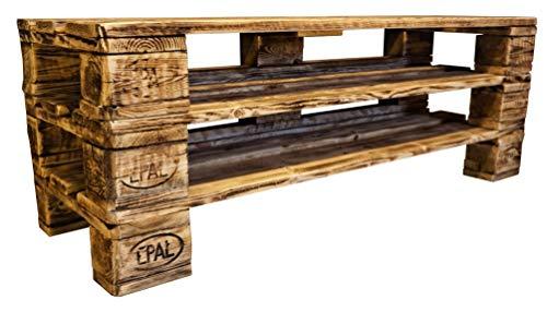 daves redesign Schuhregal Holz Vintage aus Paletten Schuhschrank aus Europaletten Ablage Garderobe Vintage Palettenmöbel Palettenregal (1 Etage, 14,5 cm Gesamthöhe)