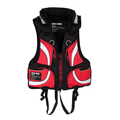 WANGT Chaleco Salvavidas, Chaleco De Vida De Kayak Chaleco De Ayuda De Natación para La Pesca para La Pesca Natación Navegante Deportes De Navegación,Red 2