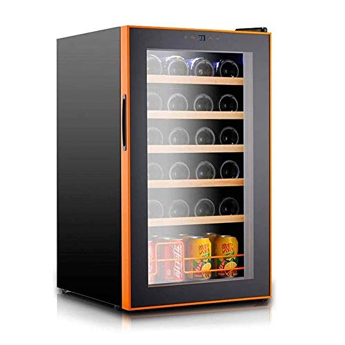 24 Bottle Compressor Wine Cooler Refrigerator Freestanding Quiet Operation Wine Fridges Cellar Digital Touch Display UV-Protective Finish Auto-Defrost