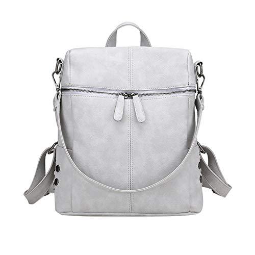 ladies simple anti-theft backpack dual-use schoolbag waterproof shoulder bag leisure campus travel backpack women n1005 (Color : A4)