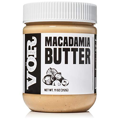 Vör Pure Macadamia Nut Butter Spread (11oz)   Only One Ingredient   Vegan, Paleo, Keto, Whole 30 (11oz Jar)