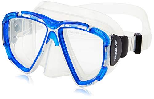 BEUCHAT MK+300 Senior Maske Unisex Erwachsene, Rot/Blau/Schwarz, FR (Größe Hersteller: Einheitsgröße)