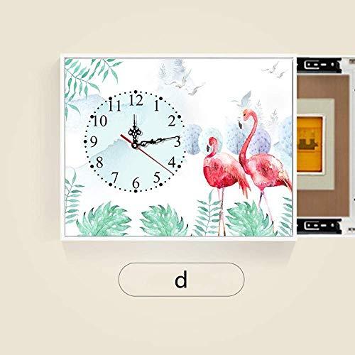 ZhenHe Caja de distribución de reemplazo puerta con un reloj de silencio bloquea el medidor caja decorada sala de estar dormitorio push-pull de pintura decorativa Con Medidor perforador hidráulico Var