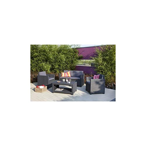 Divero Jardin Banquette mobilier de jardin-Parure 3 pièces 1 Table 150 Cm 2 bancs