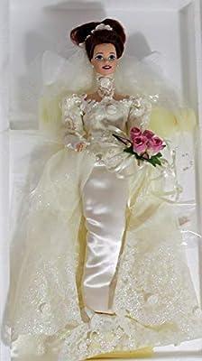 Romantic Rose Bride Porcelain Barbie Doll