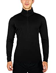Woolx Explorer 1/4 Zip - Men's Merino Wool Base Layer Top - Midweight , Moisture Wicking Shirt