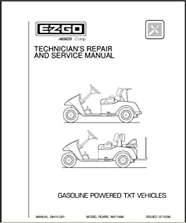 EZGO 28410G01 1997-1998 Technician's Service and Repair Manual for Gas TXT Golf Cars & Personal Vehicles