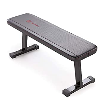 Marcy Flat Utility 600 lbs Capacity Weight Bench for Weight Training and Ab Exercises SB-315  Black 17 x 14 x 43.00 inches