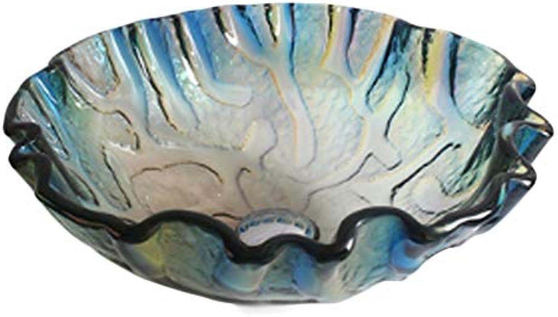Kohles Gehrtetes Glas Waschbecken im Badezimmer Glas Badezimmer Waschbecken Kunstbecken Waschbecken