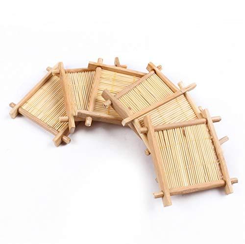 QINGRUI Tea Set Accessories 6 Piezas/Lote té de bambú de bambú té con té de té de bambú Natural Strong and Sturdy