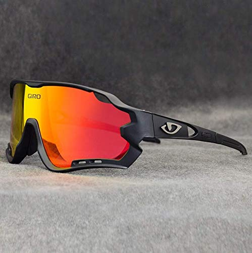 Óculos De Ciclismo 2020 Giro 3 Lentes MTB Speed Bike UV400 (Preto-Laranja)