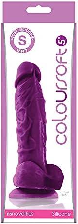Adult Sex Toys ColourSoft Albuquerque Mall 5in Omaha Mall Soft Dildo Purple