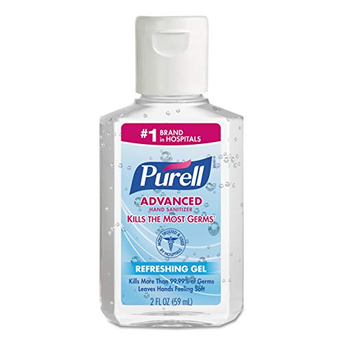 PURELL 960524 Advanced Instant Hand Sanitizer, 2oz, Squeeze Bottle (Case of 24)