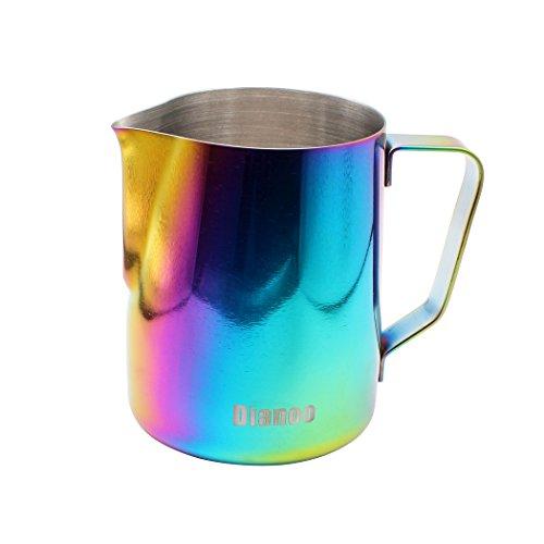 Dianoo Brocca Del Latte, Tazza Del Latte Dell'acciaio Inossidabile, Lanciatore Della Buona Presa, Caraffa Del Caffè, Macchine Di Caffè Espresso (350 ML), 1pcs - Multicolore