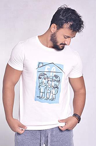 Camiseta Ubuntu Família Poeta Tamanho:G;Cor:Branco natural