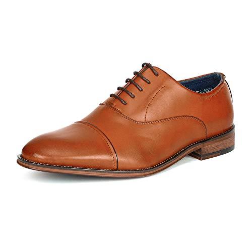 Bruno Marc Men's Brown Lace Up Soft Cap-Toe Oxfords Formal Dress Shoes Size 9 M US Louis_2