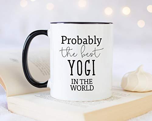 Sp567encer Waarschijnlijk de beste yogi ter wereld 11oz koffiemok thee cadeau-idee voor fitnessklasse coach personal trainer yogi enthousiast yoga