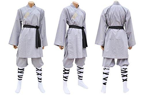 Shaolin-Anzug, Baumwolle, grau L grau
